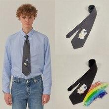 Adererror-Ties Cravat Men's Tie Wedding-Party Silk for Hollow Destruction/Ader/Error/Cravat