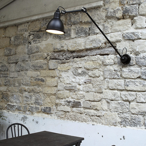 rotatable flexivel do vintage preto metal lampada de parede led
