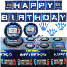 Video Spiel Partei Liefert Eingestellt für Jungen Gamer Geburtstag Party Teller, Tassen, Servietten, tischdecke für Gaming Geburtstag Party Dekoration