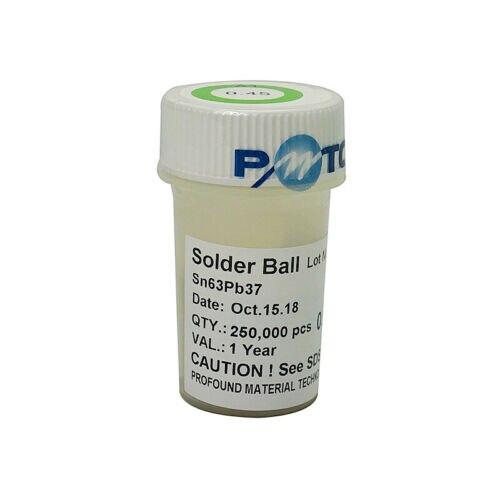 PMTC 250K BGA Com Chumbo de Esferas de Solda 0.2/0.25/0.3/0.35/0.4/0.45/0.5 /0.55/0.6/0.65/0.76mm para o Trabalho de Chip BGA Reballing
