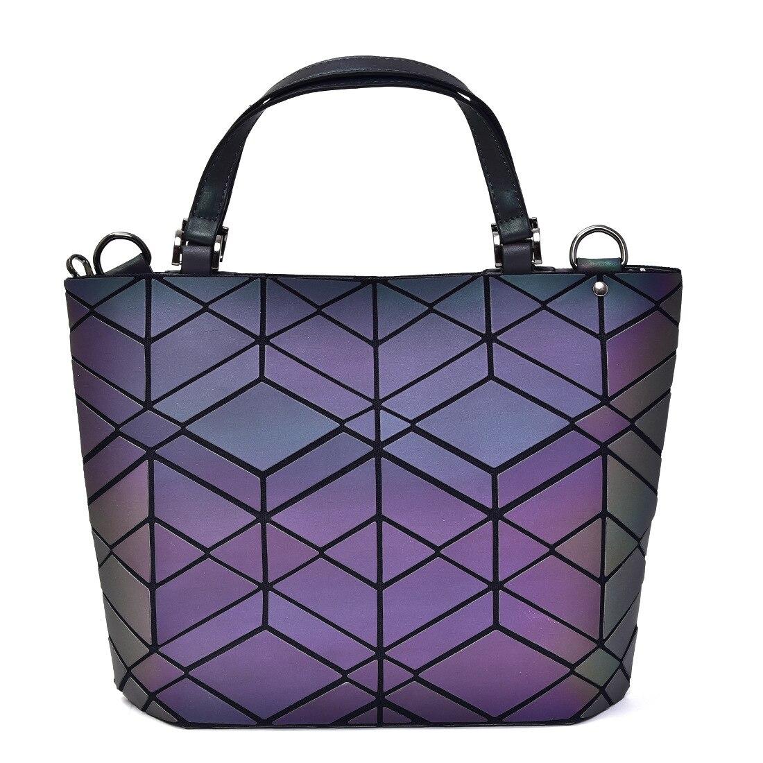 Luxury Handbags Women Bags Designer Geometric Luminous Color Change Tote Bags for Women 2019 Elegant Purses and Handbags