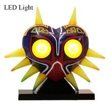 Legende von Zelda Majora S Mask Action Figure LED Licht Link PVC Spielzeug Puppe Cosplay Zubehör Prop Sammlung Dekoration Weihnachten geschenk