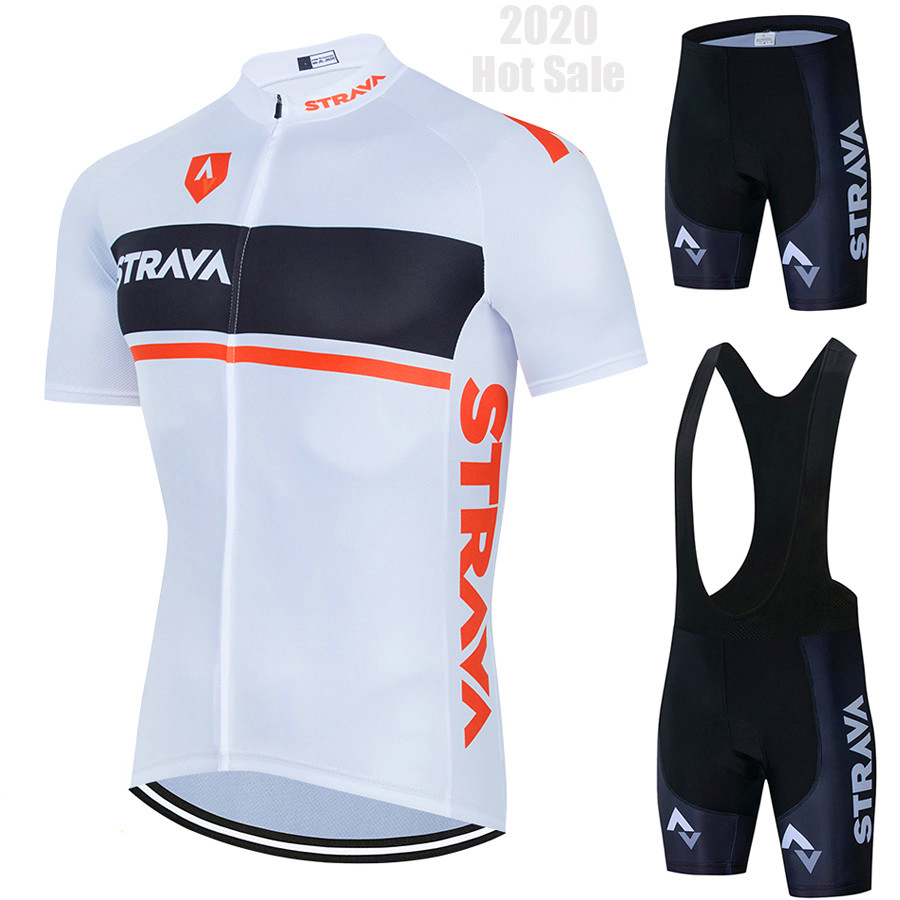 2020 New STRAVA Cycling Clothing MTB Bike Jersey Set Ropa Ciclista Hombre Maillot Ciclismo Racing Bicycle Clothes Cycling Set