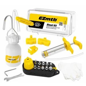 Image 1 - Kit de purgado de herramientas de freno de disco hidráulico para bicicleta MTB, Kit de sangrado de frenos de bicicleta de carretera, conjunto de fluido de aceite Mineral para bicicleta, adaptador de Metal