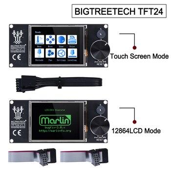 Bigtreetech tela de toque tft24 v1.1, 12864lcd 3d impressora peças vs mks tft2.4 para skr pro skr v1.4 turbo ender 3 atualizações de atualização