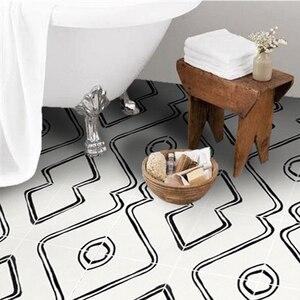 Износостойкие Walkable наклейки на пол для ванной комнаты, самоклеящиеся напольные плитки, декоративные наклейки на пол для кухни гостиной