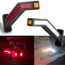 2PCS Wasserdicht Anhänger LED Seite Marker Beleuchtung Umriss Marker Lkw Licht Neon Stiel Seite Marker Licht Für Anhänger 12 24V