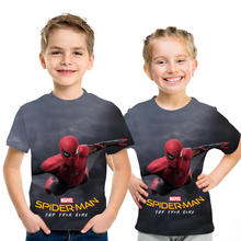 цены Boys T-shirt Kids Clothes Summer Tops Spiderman T shirt Enfant Costumes Kids Tshirt Koszulka boy T shirts For Children New