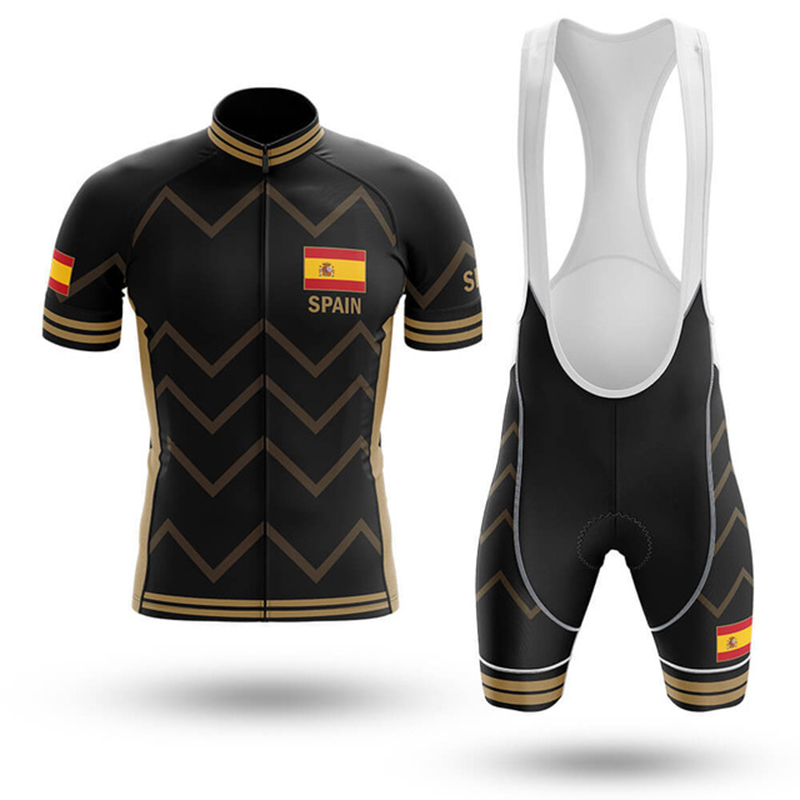 Espagne été aller pro cyclisme Maillot ensemble respirant vtt vélo cyclisme vêtements VTT vêtements Maillot Ropa Ciclismo