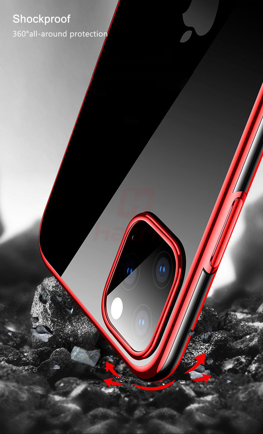 Hacrin Transparent TPU Silicone Case for iPhone 11/11 Pro/11 Pro Max 8