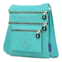 Fashion Multiple zip pocket, Nylon Women Messenger Bag Female Shoulder bags Ladies Purses Brand Bags small Crossbody