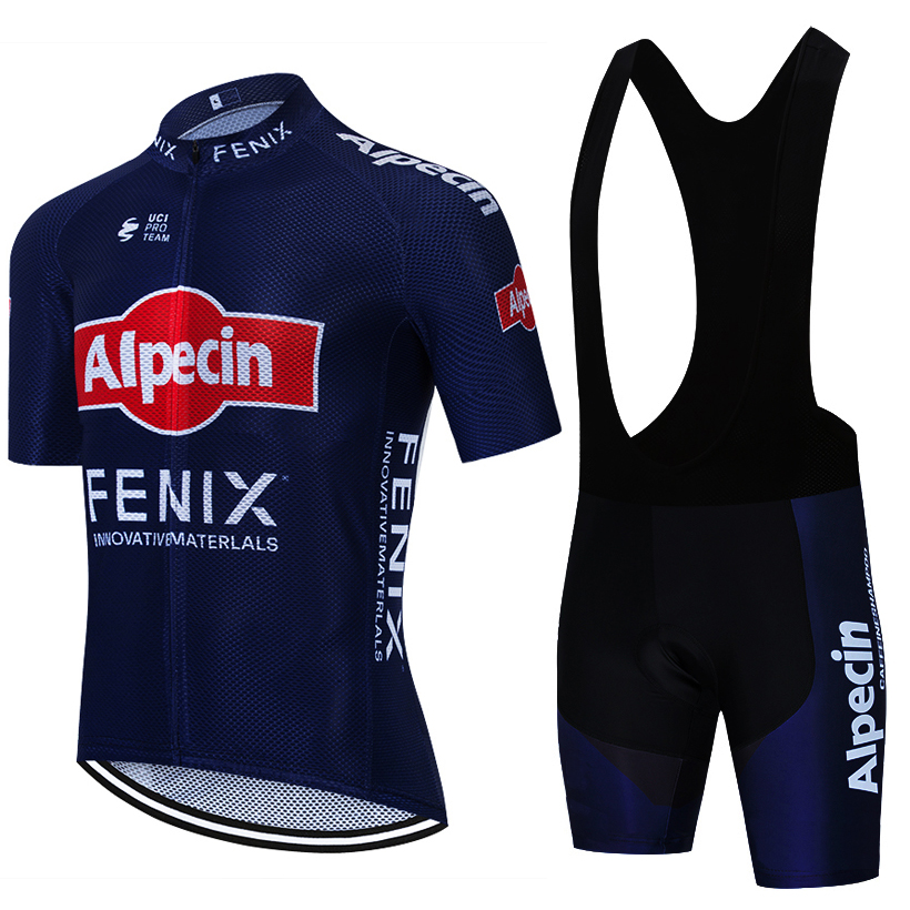 ALPECIN CYCLING Clothing TEAM JERSEY Bike Shorts 20D Set Ropa Ciclismo MENS Summer Quick Dry Pro BICYCLING Maillot Bottoms Wear