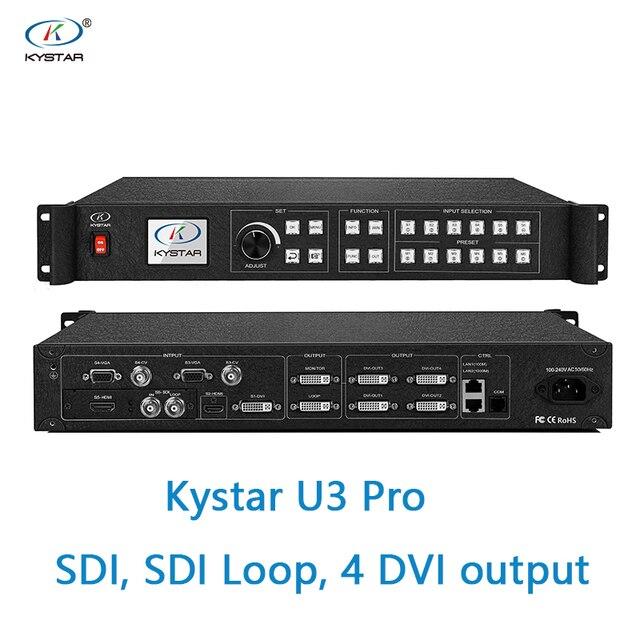 Kystar U3 ビデオプロセッサ SDI 入力 U3 プロ 3 画像スプライシングプロセッサ SDI ループ 2 または 4 dvi 出力 2 dvi モニター