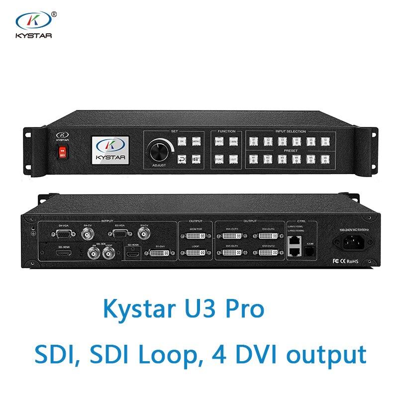 Processeur vidéo Kystar U3 entrée SDI U3 Pro trois images processeur d'épissage boucle SDI 2 ou 4 sortie dvi 2 moniteur dvi