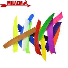 Pluma de flecha de tiro con arco, pluma de flecha de longitud completa, tiro de caza con ala izquierda, accesorios de flecha DIY, 50 Uds.