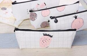 Image 4 - Cute Kawaii Fruit Cake Macaroon Cookie Koran Japanese Pencil Pouch Case Bag School Makeup Supplies Stationery