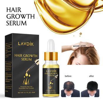 LAVDIK Serum na szybki porost włosów 20ML zniszczone włosy naprawy olejek przeciw wypadaniu włosów pielęgnacja włosów odżywka TSLM1 tanie i dobre opinie Firstsun CN (pochodzenie) methacrylic acid 1 bottle 20ml bottle Hair Loss Product Series Wholesale Dropshipping
