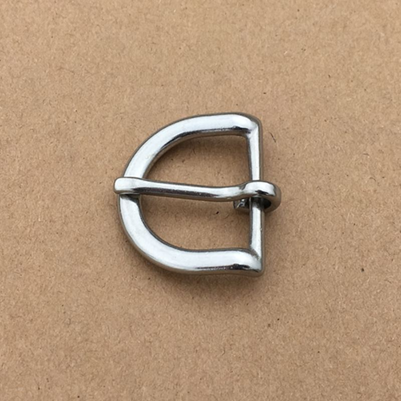 50PCS/Lot Bags Hardware Buckle Stainless Steel Half Round Buckle Leather Metal Buckle