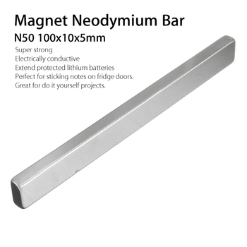 2Pcs N50 100x10x5mm Permanent Magnets Rectangle Strong Block Neodymium Rare Earth Magnet Long Bar Super Strong Magnet substance 1pcs block 45x45x20mm n52 super strong rare earth magnets neodymium magnet high quality