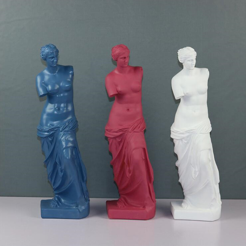 Venus De Milo Large Resin Statue Aphrodite Goddess Statue Masterpiece Crafts Modern Sculpture Table Home Decor Ornaments R3291