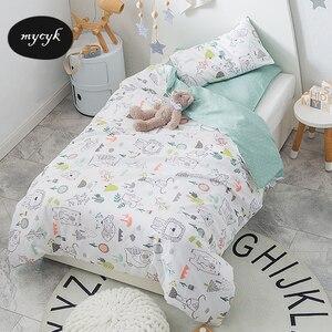 3Pcs 100% Cotton Crib Bed Line