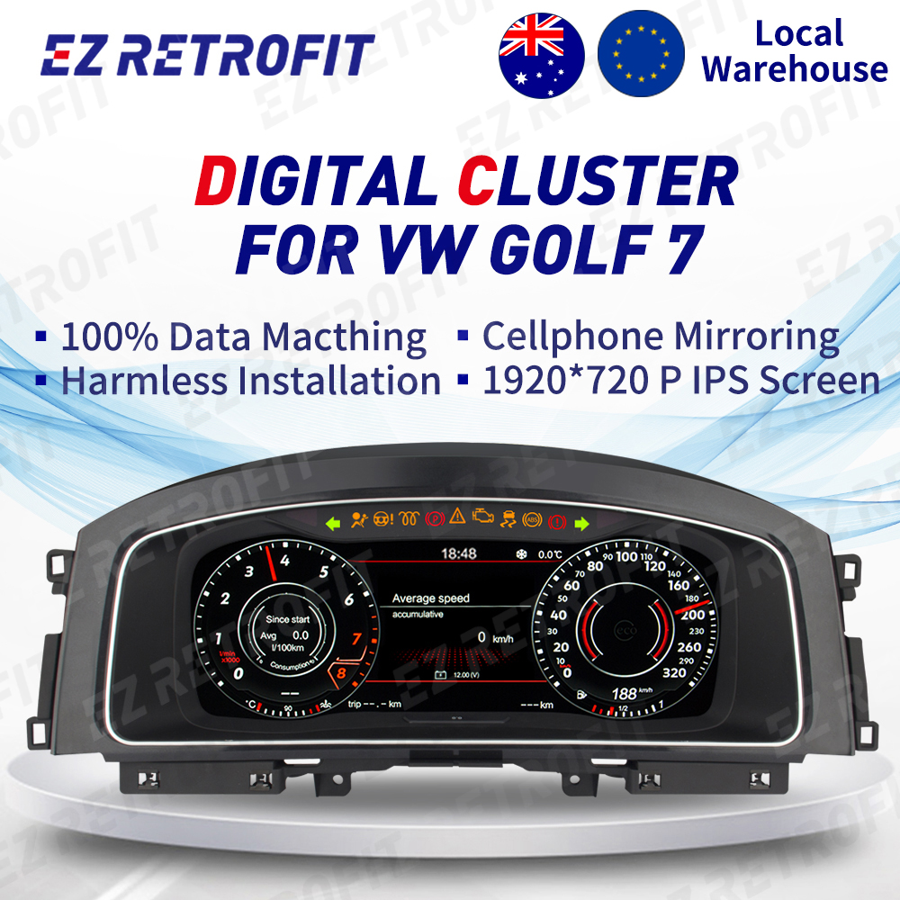 Digital Dashboard Panel Virtual Instrument Cluster CockPit LCD Speedometer for VW Golf 7 Golf 7 R Golf 7 GTI MK7