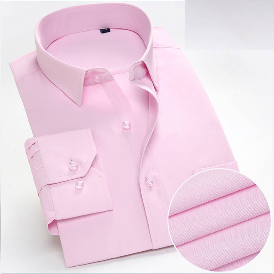 Fashion Men Long Sleeve Solid Shirt Brand Business Male Dress Shirts Casual Tops for Men Asian Size 5XL