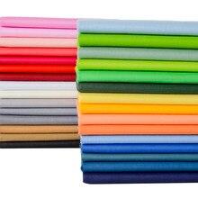 50 pçs/lote Série Cor Sólida Impresso Tecido de Sarja de Algodão, Retalhos De Pano, DIY Material De Costura & Quilting Para Baby & Child's Material