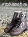 Новый модный мужской и женский водонепроницаемый чехол для обуви носимый многоразовый дождевик Чехол для обуви открытый нескользящий Порт...