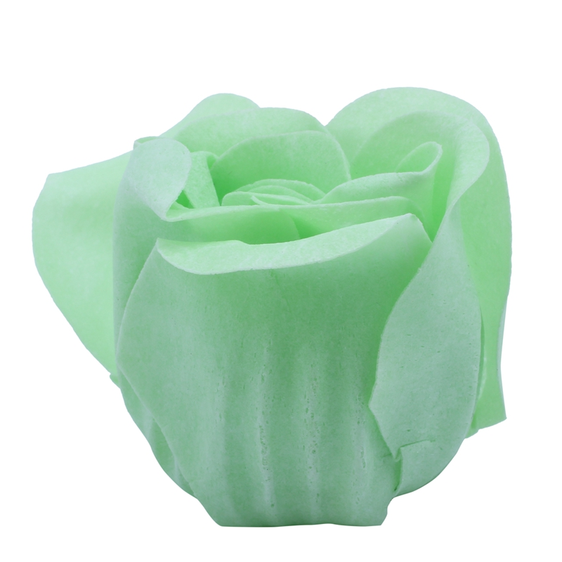 NEW-6 Pcs Green Scented Bath Soap Rose Petal In Heart Type Box