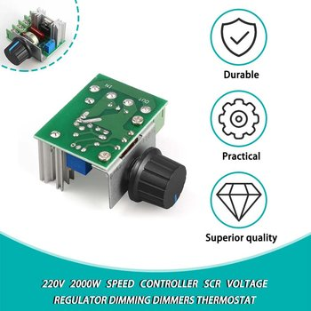 1Pc 220V 2000W Speed Controller SCR Voltage Regulator Dimming Dimmers Thermostat Electronic Mold Voltage Regulator Module 2000w scr voltage regulator dimming dimmers motor speed controller thermostat electronic voltage regulator module