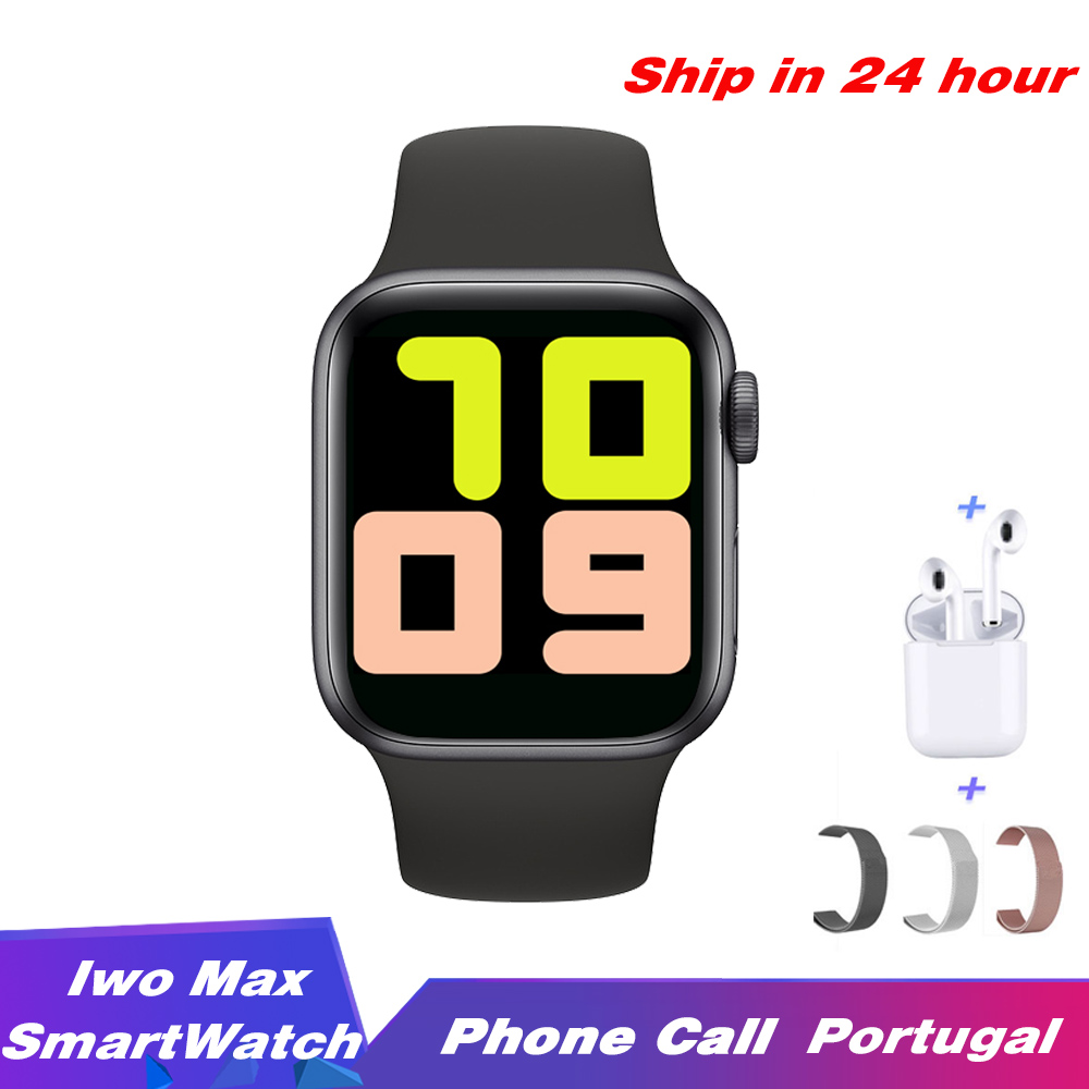 IWO Max Smart Watch Phone Call Bluetooth Smartwatch 1:1 Strap Change 44mm Waterproof Sport Band for IOS Android PK IWO 8 IWO12