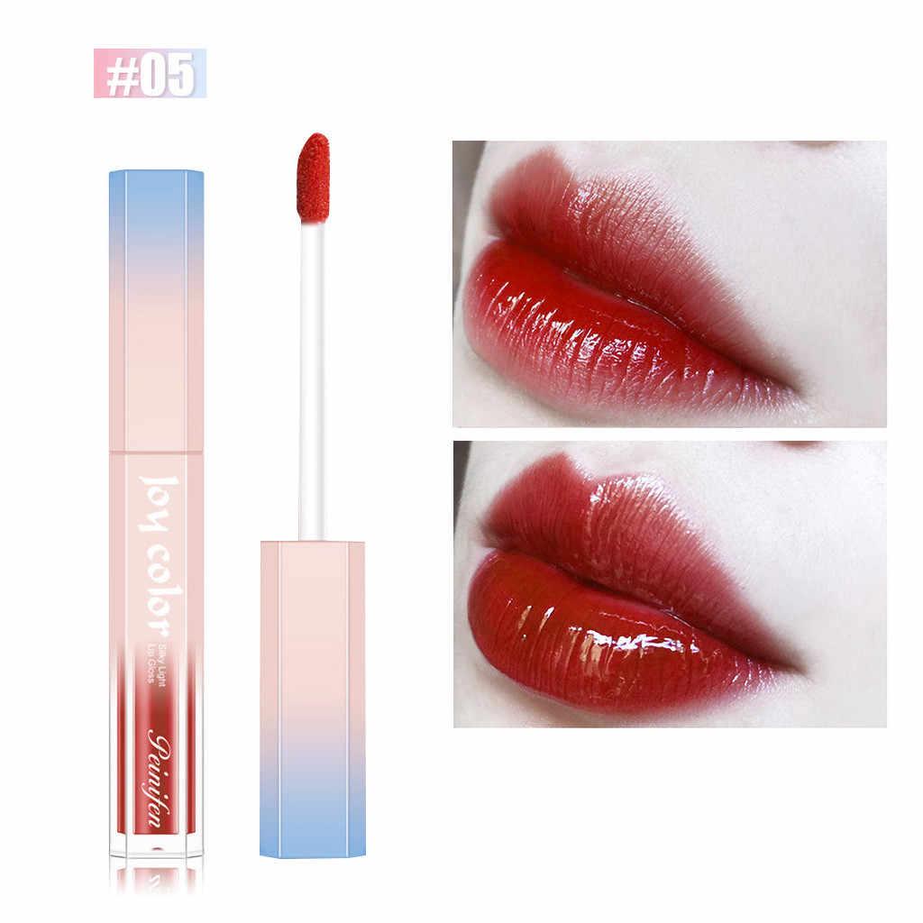 Marque professionnel lèvres maquillage imperméable à l'eau rouge à lèvres hydratant humidité durable pas décoloration rouge à lèvres glaçure Vintage nu rose