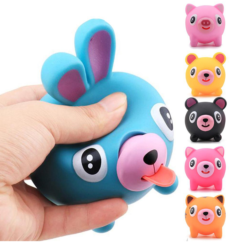 Squeeze Tongue Out Animal Stress Reliever Toys Prank Gadgets Anxiety Relief Autism Sensor For Enfants Enfants
