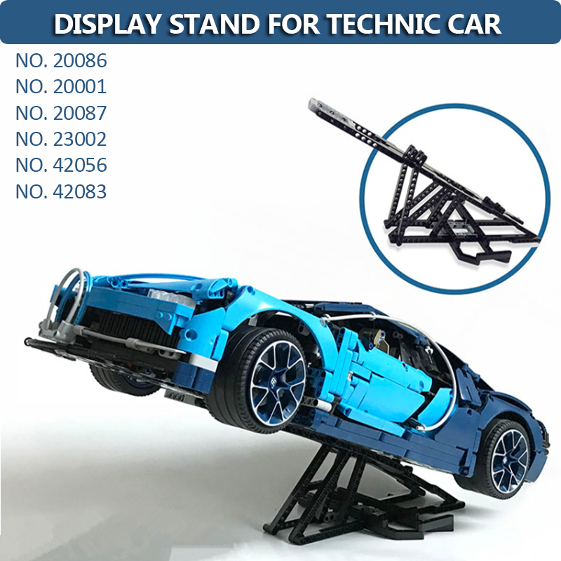 20086 20001 42056 42083 20087 20001 <font><b>23002</b></font> Moc Display Stand for Technic Car Building Blocks Brick Toy image