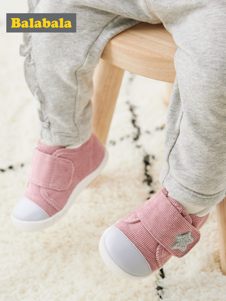 Balabala Prewalker Shoes Baby 1-3 Years Boys Baby Non-slippers Shoes 2019 New Spring And Autumn Fun Footwear