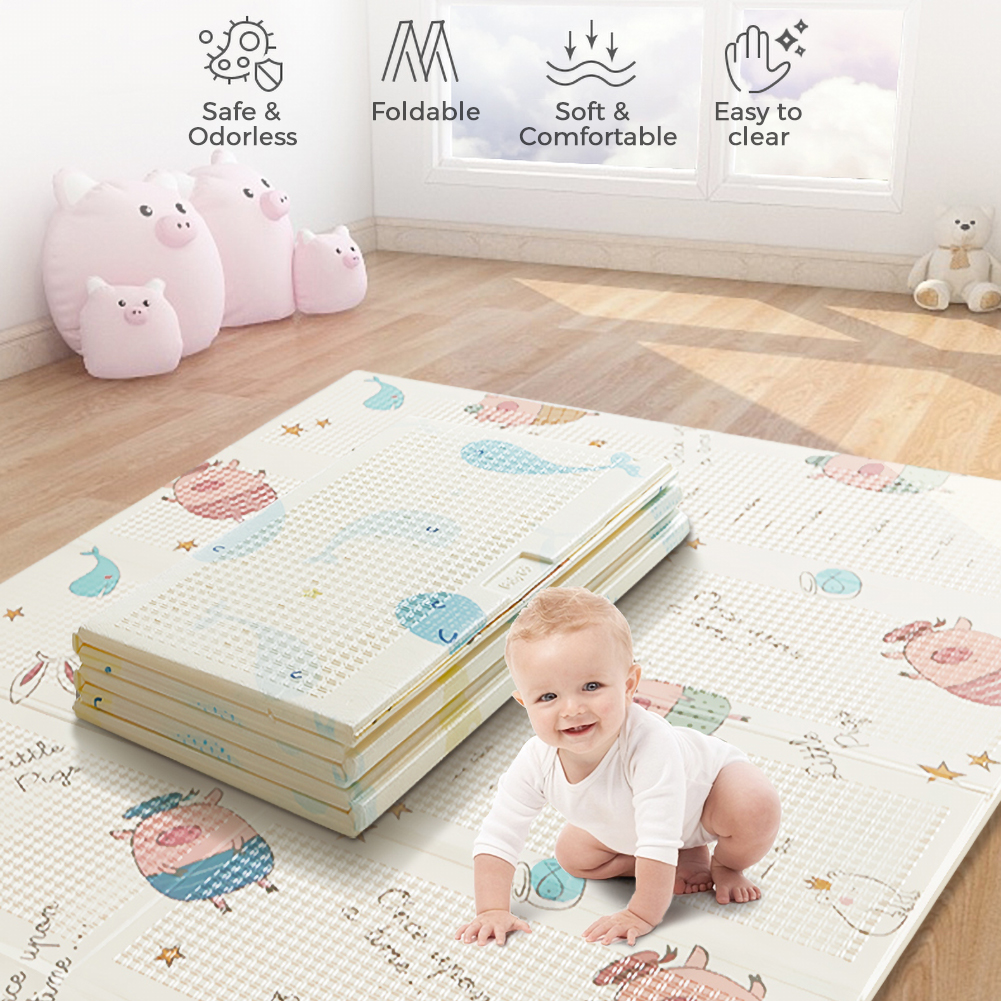 Tapis de jeu pour enfants tapis de jeu pliant Puzzle tapis de jeu pour nourrissons Portable XPE mousse Double face tapis de jeu pour bébé tapis rampant antidérapant 20