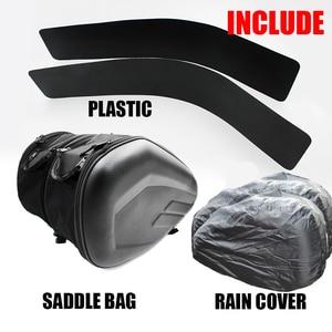 Image 2 - One Set Waterproof Motorcycle Saddlebags Helmet Moto Side Bag Tail Luggage Suitcase Motor Bike Fuel Tank Bags saddle bags SA212