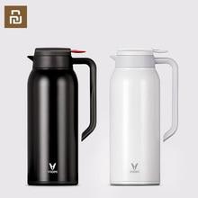 Youpin VIOMI termo kupa 1.5L paslanmaz çelik vakum bardak 24 saat şişesi su şişesi kupası bebek açık akıllı ev