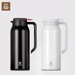 Image 1 - Youpin VIOMI termo kupa 1.5L paslanmaz çelik vakum bardak 24 saat şişesi su şişesi kupası bebek açık akıllı ev