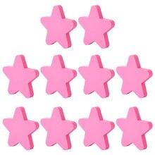 6 pces/10 pces dos desenhos animados estrela forma puxar alças porta armário botão pvc haplopore criativo puxar alça para armário gaveta guarda-roupa