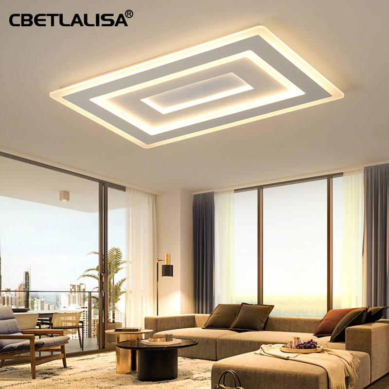 Modern LED ceiling lights living room bedroom surface mounted with remote control ceiling light, 50%