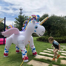 Inflatable Unicorn Yard Sprinkler Alicorn Pegasus Lawn Sprinkler for Kids