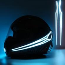 Motorcycle Helmet Light Strip EL Cold Night Luminous Modified Glowing Bar illuminate StickerNightSignal