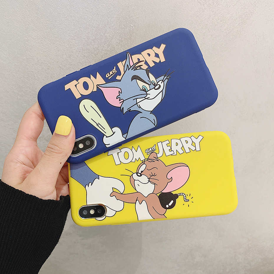 Cartoon Case for Huawei P30 Lite Pro P20 Honor 8X 10 View 20 9 8 Mate 20 Pro 10 Nova 4 3 3i 2S Cute Tom Jerry Silicone Cover