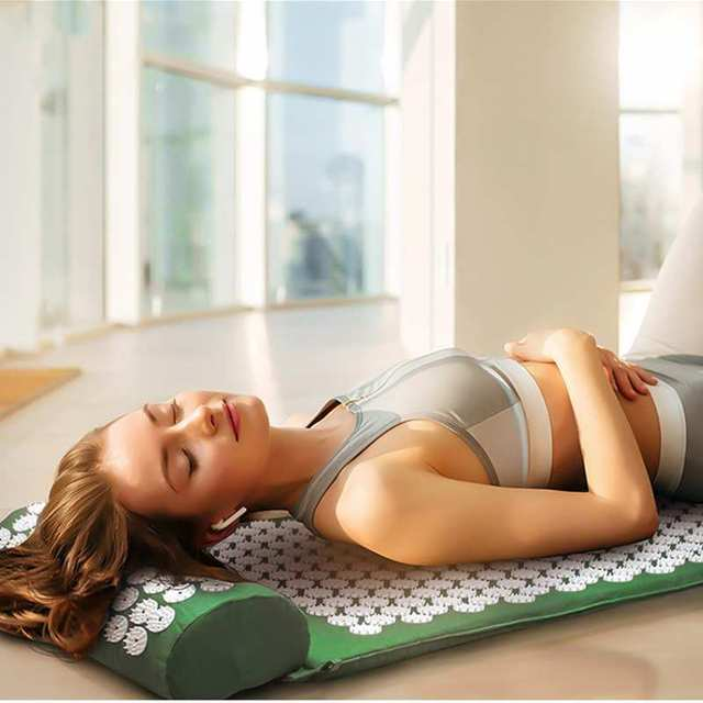 Yoga Mat Massage Yoga Pillow Cushion Acupressure Mat Relieve Stress Pain Acupuncture Spike Yoga Mat Natural Relief Tension Spike