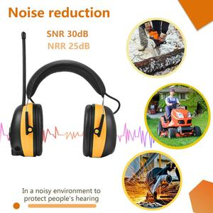 Image 3 - ZOHAN Digital AM/FM Stereo Radio Ear Muffs Electronic Ear Protection for Mowing Professional Hearing Protector  Radio Headphone