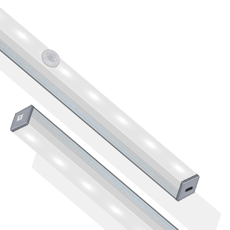 Motion Sensor Night Light Portable 14/20 LED Cabinet Lights USB Charging Induction Night Lamp For Bedroom Living Room Corridor 2