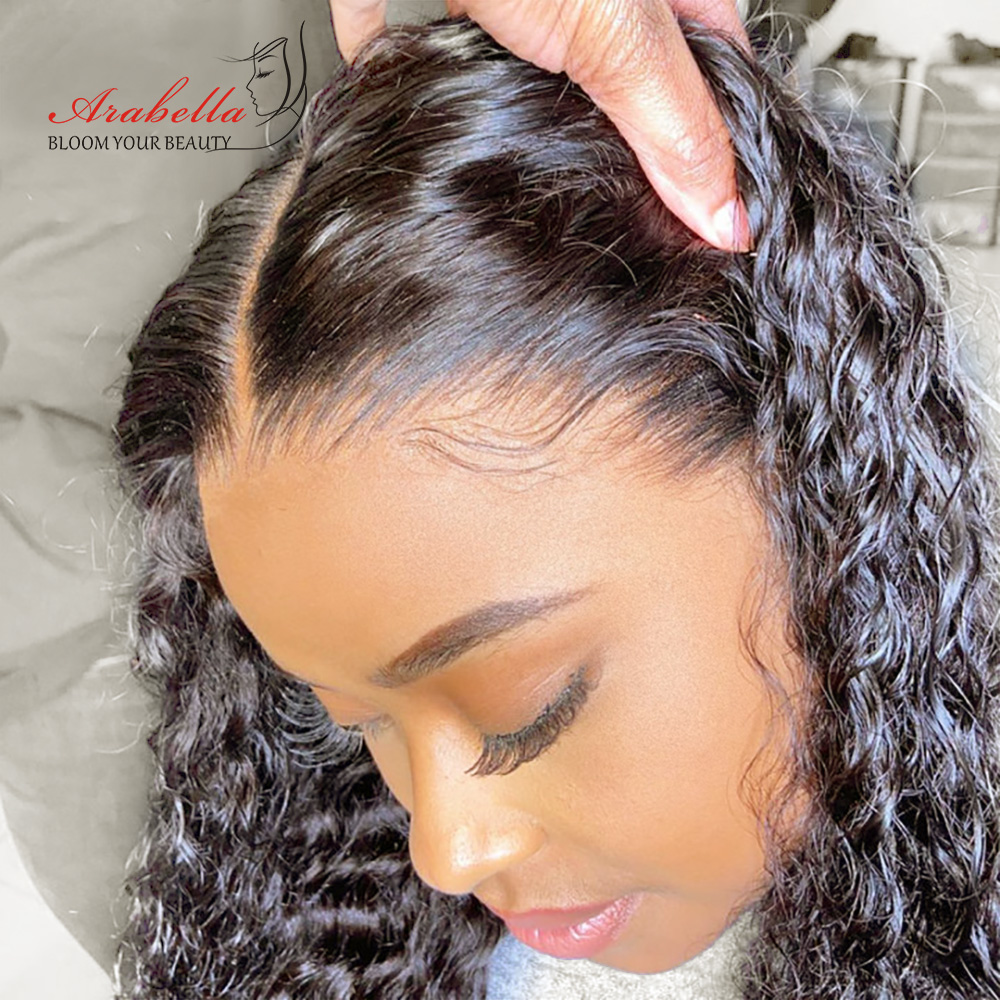 Water Wave Lace Front Wig 13X4 Arabella Wig PrePlucked   Wigs With Baby Hair Lace Closure Wig 1