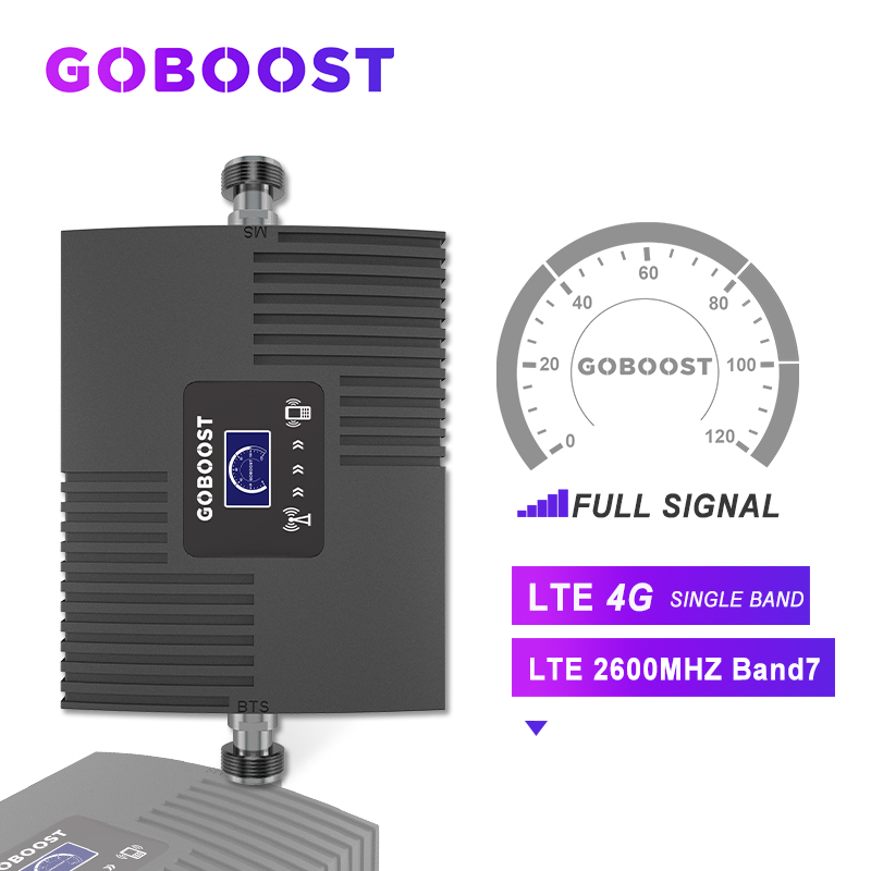 LTE 4G Cellular Signal Amplifier For Cell Phones Repeater 2600mhz Cellular Signal Booster Amplifier 4G GSM Repeater LCD Display